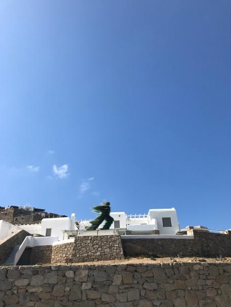 extremely windy Greek island