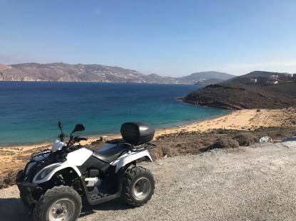 Cruising aroung the (small) island